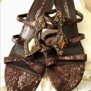 Shoes - REDUCED ‼️ Brown strappy slides